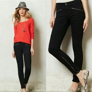 Anthropologie | Moto Ankle Zip Skinny Jeans 25